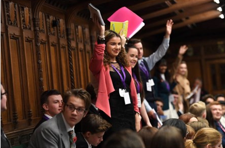 Alisha, 17 from Tycroes is our elected member of the UK Youth Parliament