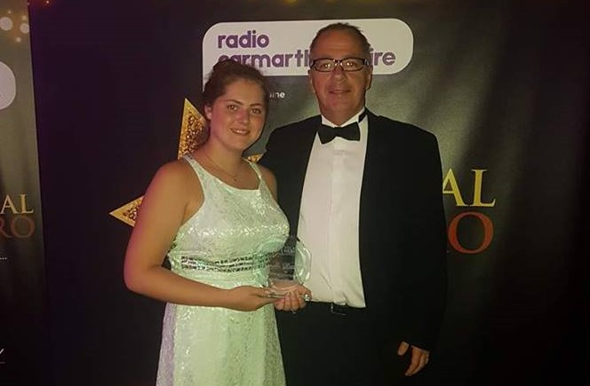 We are so proud of our member Harriet who has deservedly won Carmarthenshire Radio Child of Courage Award 2017 in recognition for the strength, fight and courage she has shown during personal difficulties.